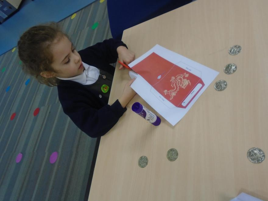 Reception made red money envelopes.