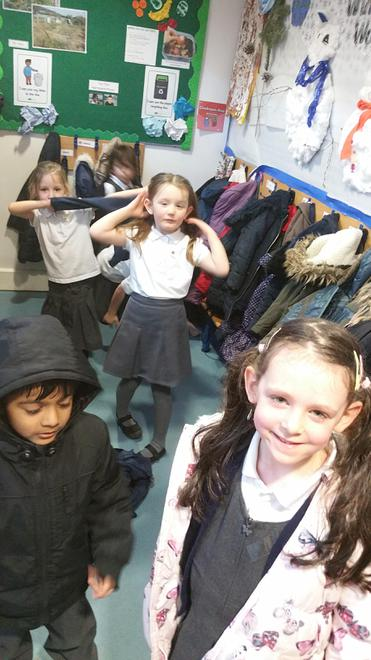 Changing shoes for indoor and outdoor learning