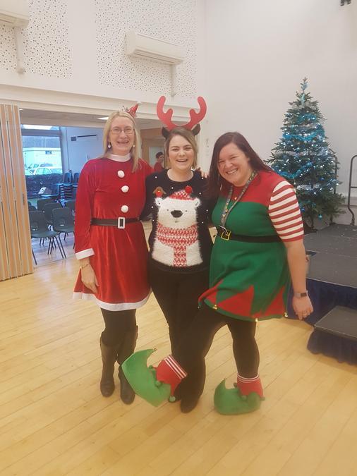 Staff join in Christmas fun!