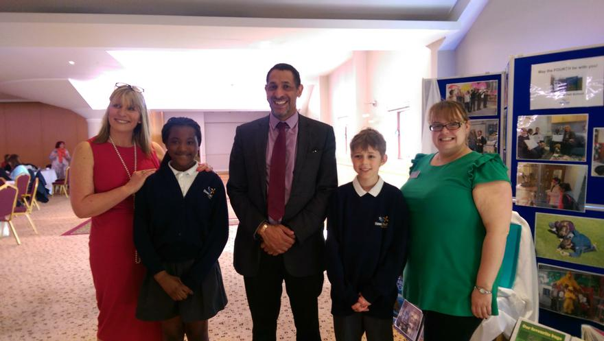 Governor & pupils present 'Champions of Excellence