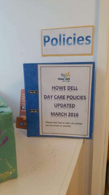 Day Care policies available for parents