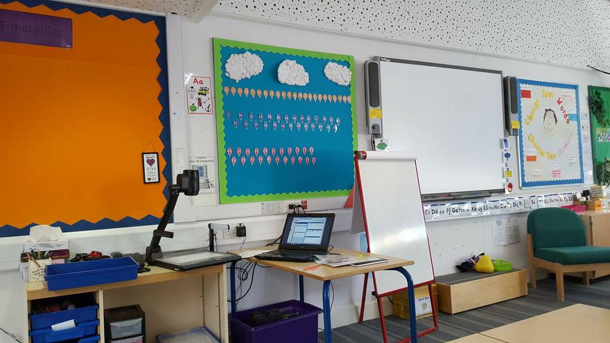 Phonics display and interactive white board.