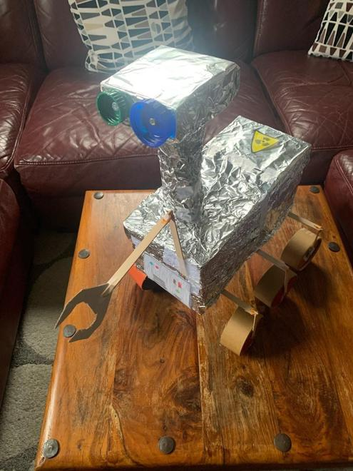 Year 5's Mars Rover Project. They used recycled materials and Lego.