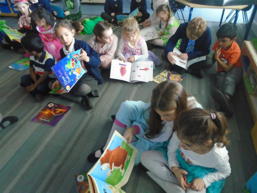 Sharing stories with Year 4