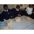 We made our own Gas mask boxes.