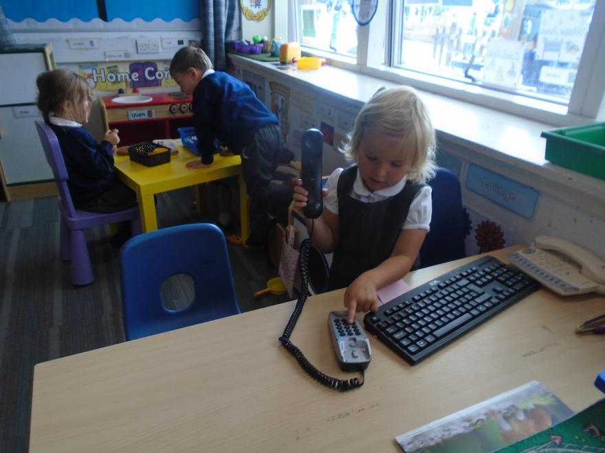 Role play on the 'Home Corner'