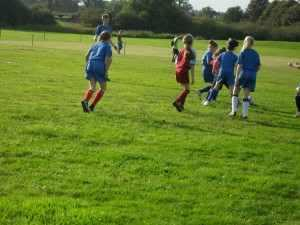 Girls' Football Team in Action