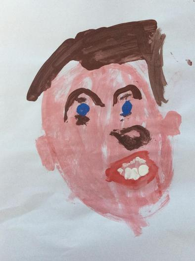 Self-portrait in paint