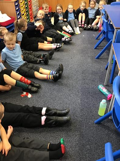 2C wore odd socks to say no to bullying.
