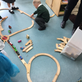 We have chosen to play with our favourite toys.