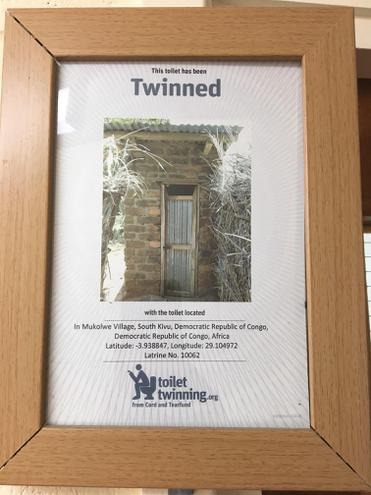We have 2 toilets in school that are 'twinned'