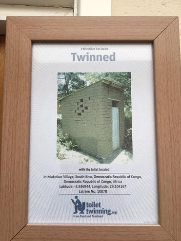Toilet 'twinning' with the Congo!