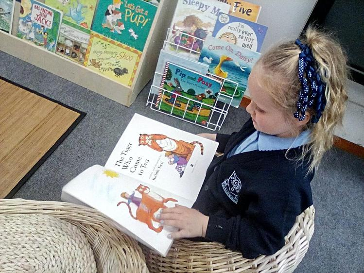 Developing a love of books and reading.