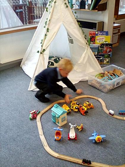 Problem-solving how to make a train track.