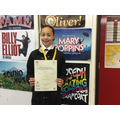Congratulations to Cyanne, 6SB, on recently passing her Grade 3 singing exam.