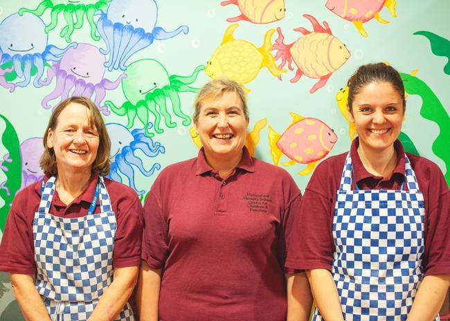 Janet Mumcu, Amanda Wood, Gabrielle- Kitchen Staff