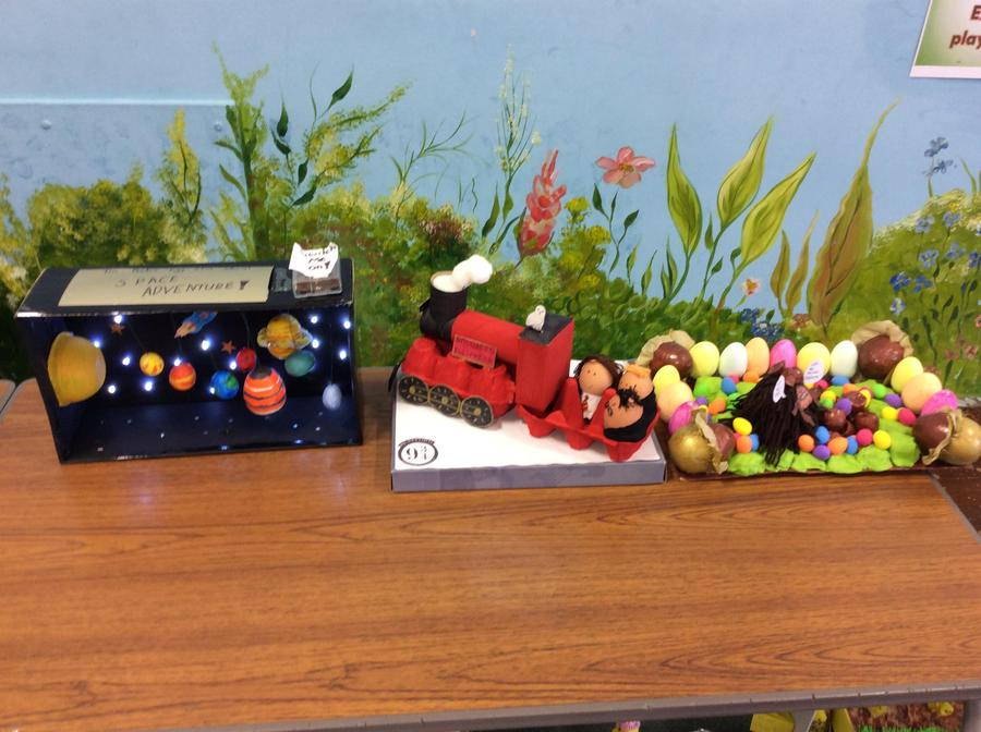 Year 4 winning eggs.