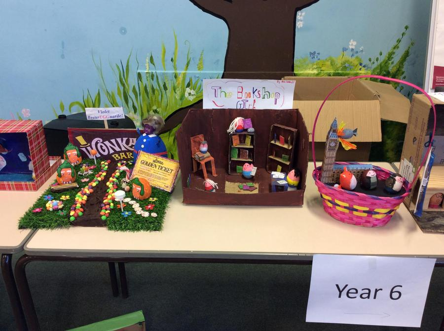 Year 6 winning eggs.
