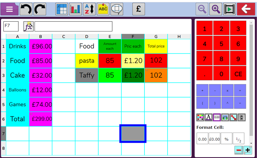 4H - Joseph showed enthusiasm and expertise in navigating spreadsheets.