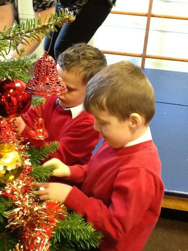 We helped decorate the school Christmas Tree.