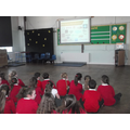 Ks 2 Safer inertnet day assembly with Mr Gray