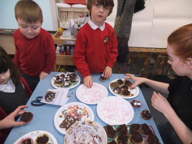 We had fun making our Gruffalo cakes.
