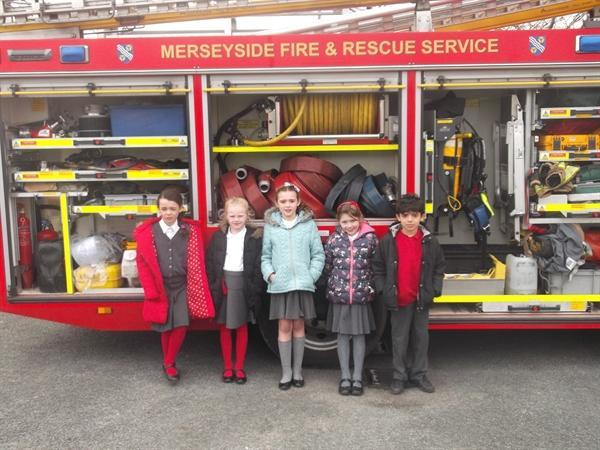 Mersyside fire service visited our school