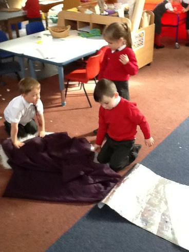 We built dens when learning about hibernation