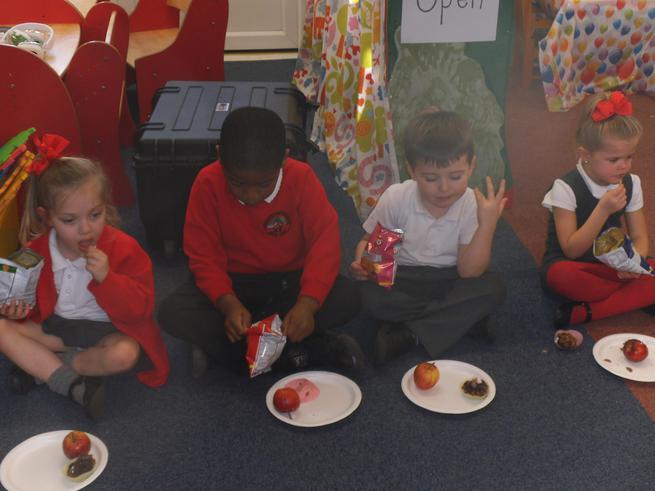 We had a Gruffalo tea party.