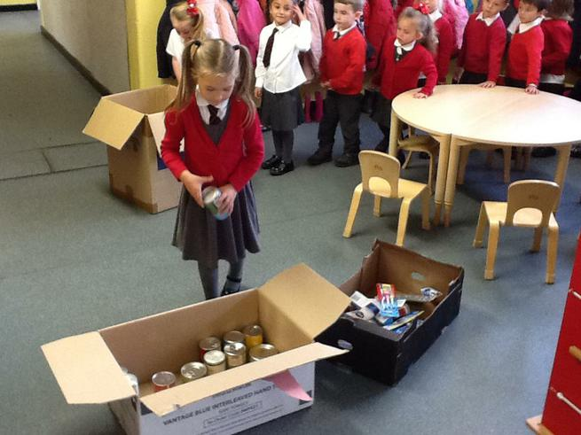 Sorting the items into boxes
