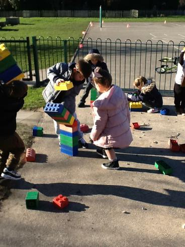 Building towers outside