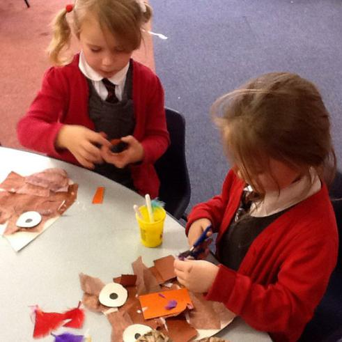 Creating owl collages