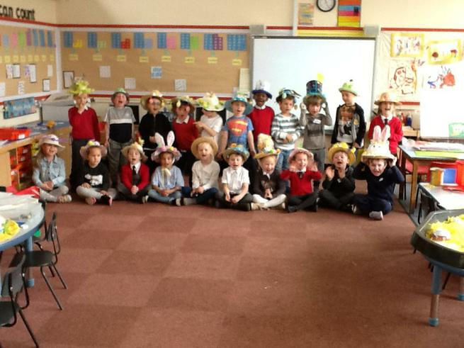 Proudly showing our fantastic Easter bonnets