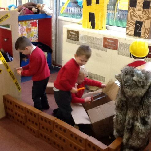 We have been busy constructing in class!