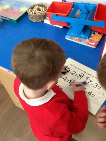 Solving number sentences