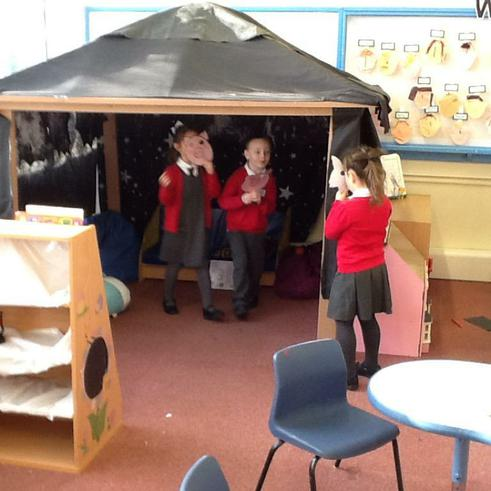 Role-playing Three Three Little Pigs