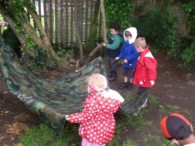 Building our own dens!