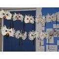 Snow Masks made by Year 1 Children