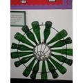 Art Work made frrom Recycled Bottles