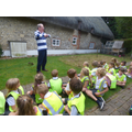Mr Ellis talked to us about his house and even showed us a spear!