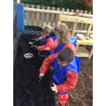 Fun in the mud kitchen!