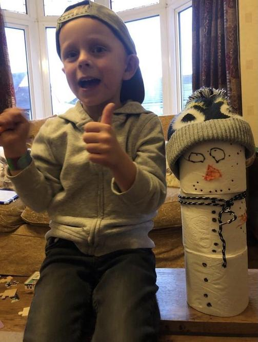Albie made a snowman!