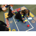 Sorting shapes -stack and roll