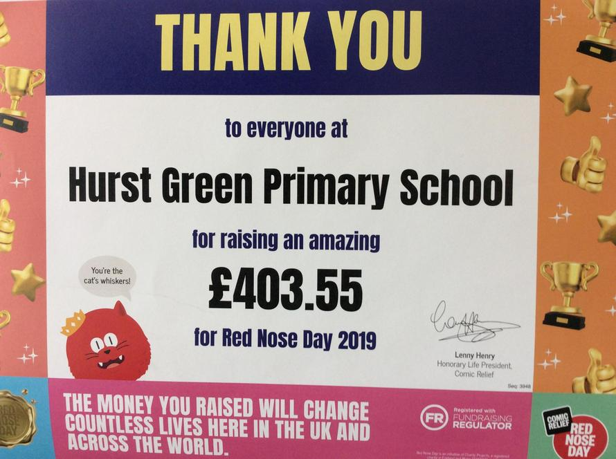 School council decided to sell red noses at break.