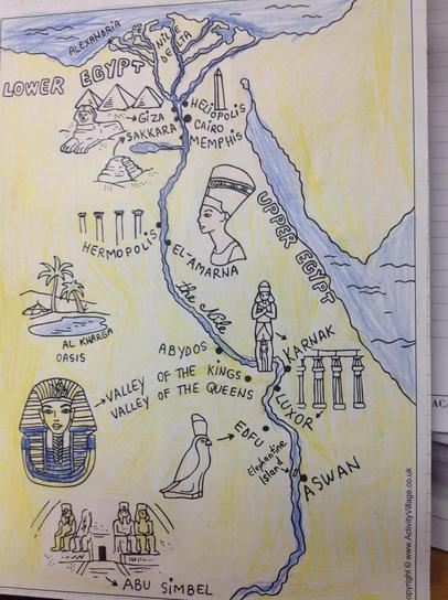 Year 4 Ancient Egyptian map