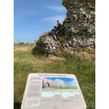 Charlie and Will at the Roman Wall in Silchester.