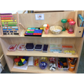 Explore number and shape in the maths area!