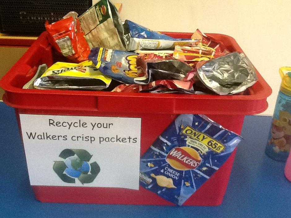 Walkers Crisps collection box in sandwich hall