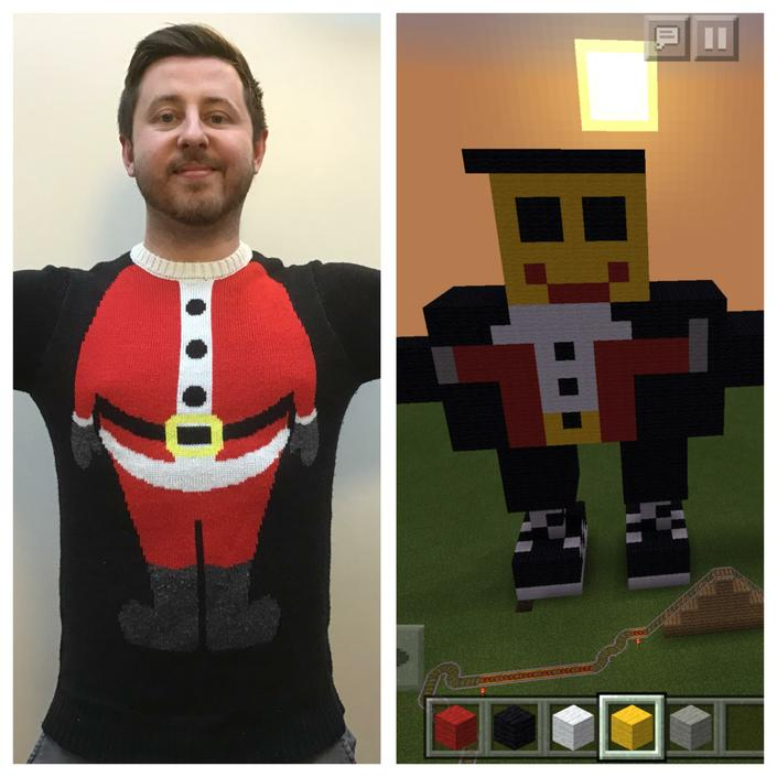 The pupils created a Minecraft version of Mr J