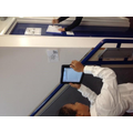 Rounding independently in the corridors for space and movement- checking using QR codes.